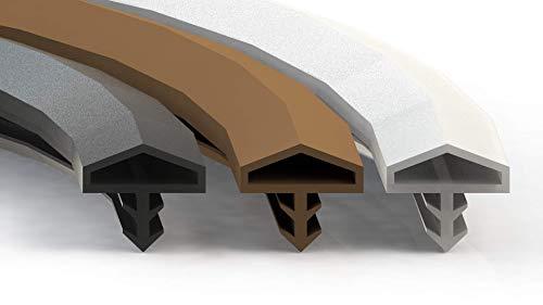 Premium Türdichtung Weiß - Gummidichtung für Türen & Fenster - Universal passend für jede Tür & Fenster - Zimmertürdichtung - Flügelfalzdichtung & Stahlzarge 40 Meter Dichtung