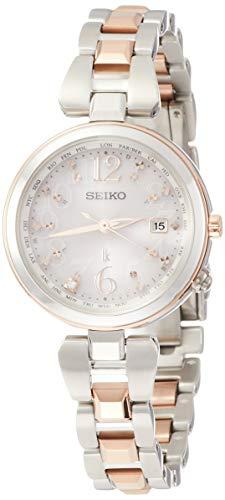 [セイコーウォッチ] 腕時計 ルキア ソーラー電波 ピンクダイヤモンド入り文字盤 チタンモデル SSQV048 レディース シルバー