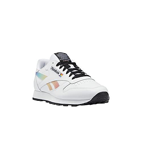 Reebok Unisex Classic Leather Sneaker, Pride/White/Black, 14 US Men