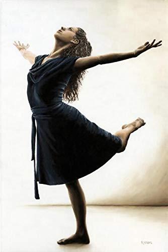Dongwall Rahmenlose Ballerina Wandbilder Leinwandbilder schwarz Mädchen Leinwandbilder Wohnzimmer Wandbild Tango Tänzer Poster und Kunstdrucke 40x60cm