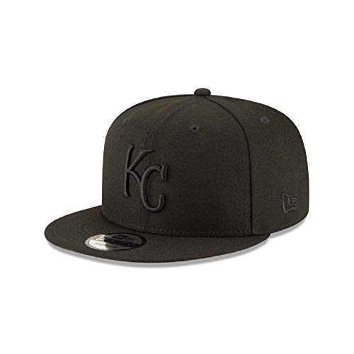New Era Kansas City Royals MLB Basic Snapback Black on Black 950 Adjustable Cap