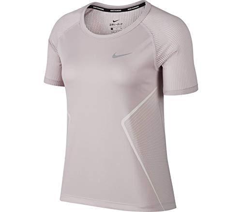 Nike Dry Miler Running Top Camiseta, Mujer, Rosa (Particle Rose/Barely Rose), XS