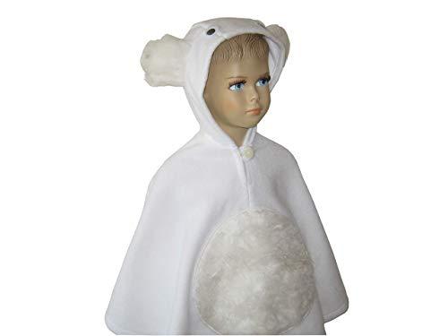 fasching karneval halloween kostüm cape für kleinkinder eisbär