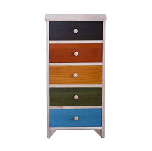 Zzg-2 Wooden Storage Box, Child Drawer Type Toy Locker Living Room Colorful Gap Chest of Drawers Bedroom Bedside Table, 403082CM (Size : 403082CM)