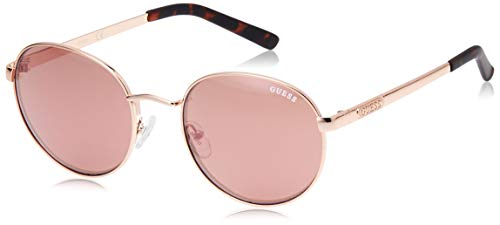 Guess Unisex-Erwachsene GU7363 28U 54 Sonnenbrille, Gold (ORO Rosa Lucido/Bordeaux Specchiato)