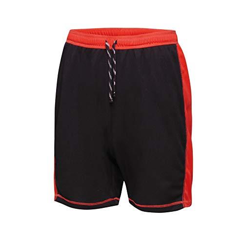 Regatta Short Sport Homme léger et Respirant Tokyo II, Black(Classic Red), FR (Taille Fabricant : XL)