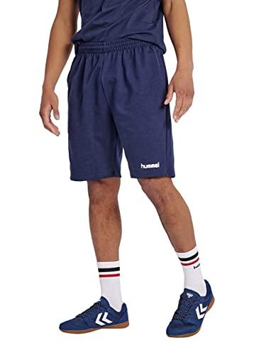 hummel HMLGO Cotton Bermuda Shorts, Hombre, Azul Marino, XL