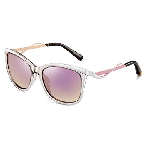 Gafas de sol Aviador Vogue UV Running Retro polarizadas Ligeras para Mujer - Novedades de Moda (Color : D)