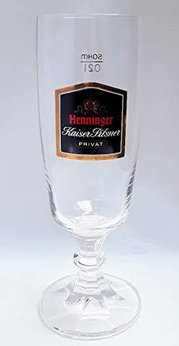 Henninger Kaiser Pilsner 0,2l Glas/PRIVAT/Gläser/Bierglas/Biergläser/Bier/Bar/Gastro/Sammler / 6er Set