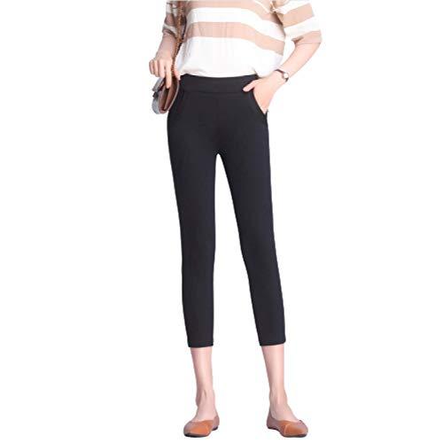 Leggings Ajustados elásticos elásticos de Talla Grande para Mujer, Pantalones de Entrenamiento, Correr, Gimnasio, Ocio Diario, Pantalones recortados XL