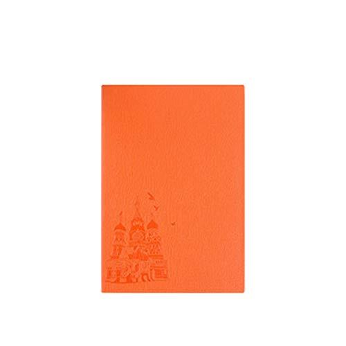 Dzwyc Cuaderno A5 PU Soft Cuero Cuaderno Papel Grueso Notepad Hardcover - Reglase 5.6'x8.3 Naranja Diarios (Color : Orange, tamaño : A5)
