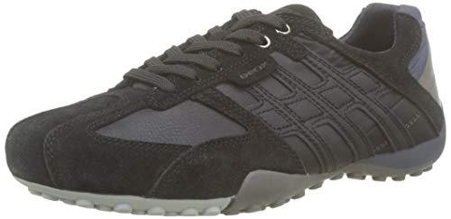 Geox Herren Uomo Snake E Sneaker, Schwarz (Black/Dk Avio C9369), 45 EU