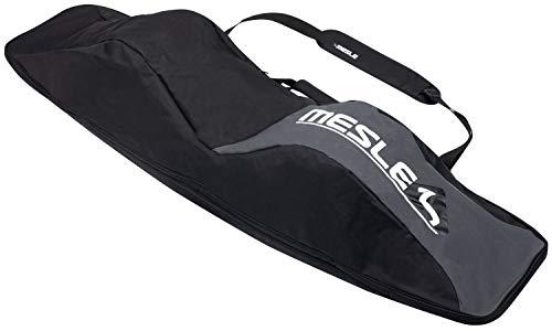 MESLE Wake- und Kiteboardtasche Padded, bis 146 cm Boardlänge mit Bindung, gepolstert, Wakeboard-Tasche Kite-Board Bag, schwarz grau