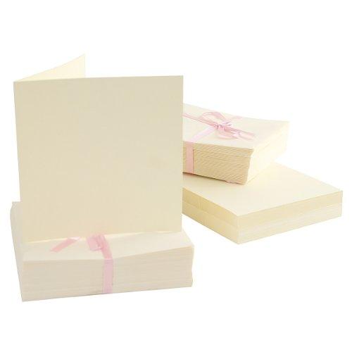 Do Crafts Anita's - Cartoncini quadrati 135 x 135 mm, pacco da 100, colore crema