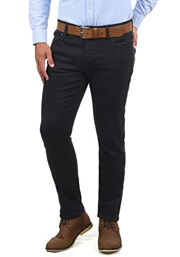 JACK & JONES Ubbo Herren Jeans Hose Denim Stretch Slim Fit, Größe:W36/34, Farbe:Black Denim