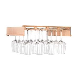 Klarstein Barossa 102D - Étagère à verres à vin, Étagère, Accessoires pour cave à vin Barossa 102D, 4 rails pour suspendre des verres, Bois véritable