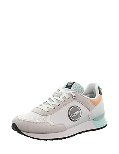Colmar Travis Mellow Sneaker da Donna in Tessuto White Lt Blue Peach 141 (Numeric_37)