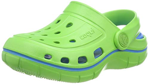 Coqui Kids Jumper Clog-Lime/Sea Blue-34/35