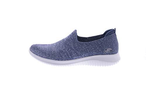 Skechers Women's Ultra Flex-Harmonious Sneaker, NVY, 8 M US