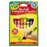 Crayola My First Washable Triangular Crayons, Wax 16 CT (Pack of 8)