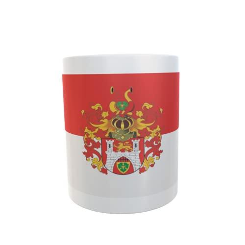 U24 Tasse Kaffeebecher Mug Cup Flagge Hannover mir großem Wappen