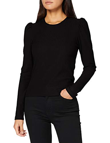 Only ONLEMMA L/S Puff Top JRS Camiseta sin Mangas, Negro, M para Mujer