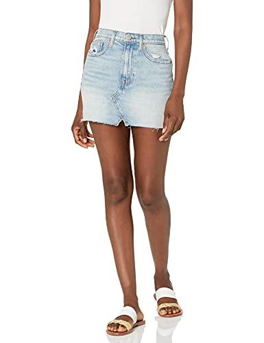 Lucky Brand Women's High Rise Cut Off Jean Skirt, Cortina Ct, 26