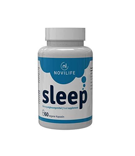 Besser schlafen und schneller natürlich einschlafen | Novilife - sleep | Endlich wieder Durchschlafen | verbesserte Tiefschlafphase sowie Regeneration | Einschlafhilfe Erwachsene mit Tryptophan