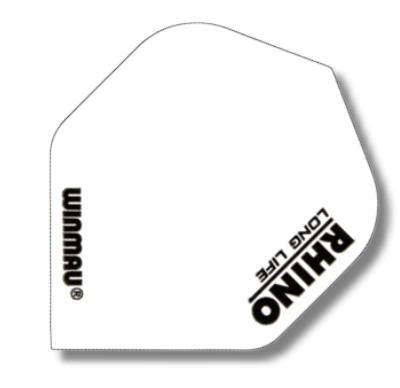 WINMAU Dart-Fly Rhino, Standard, Ausführung in weiß. Der Preis Gilt per Set (3 St.) Die einfarbigen Flys in Rhino-Qualität sind bei Profispielern