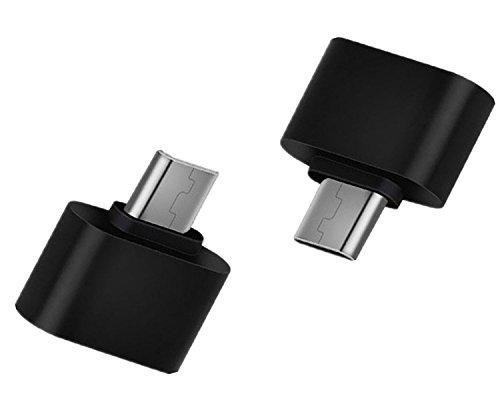 Hosaire Micro USB OTG Adaptador 2.0 Cable Negro USB B Macho a una Hembra para Smartphone Tablet, 2 Piezas