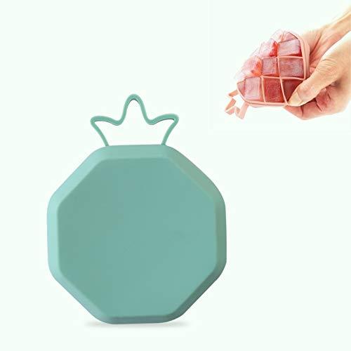 EIS-Würfel-Form DIY kreativer Frucht-Form-EIS-Kasten mit Deckel QiuGe (Color : Green)