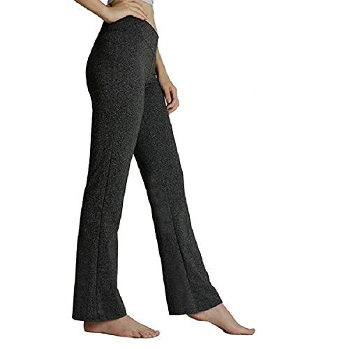 HeTaiDa Damen Jogginghose, schnell trocknende Sporthose mit versteckten Taschen, mittlhohe Taille stilvolle freizeitliche Yogahose für Fitness, Outdoor-Sport und als Alltagskleidung (Dark Gray, L)