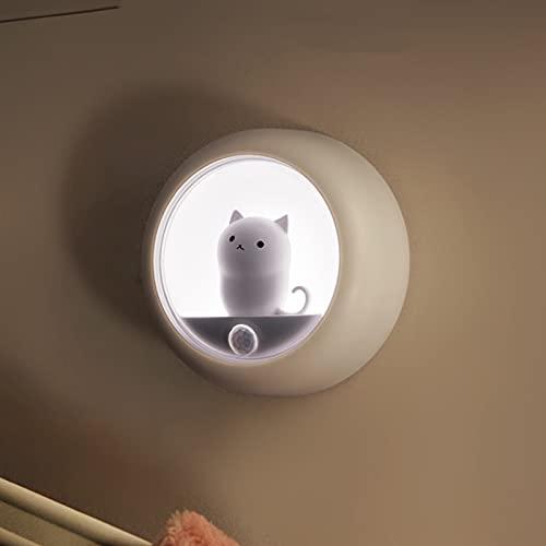 Aprimay Luz nocturna animal con fotocélula, luz nocturna LED, enchufe en las paredes con sensor dual para dormitorio, ambiente de dormitorio, gabinete de luz colgante de pared