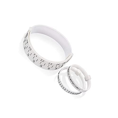litulituhallo Pack Ring Wrist Sizer Pulsera Brazalete Brazalete Brazalete Dedo Manómetro Plástico Medida 3pcs