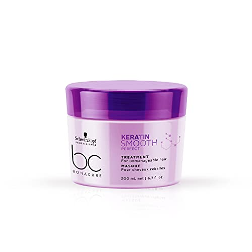 Schwarzkopf Professional Bonacure Keratin Smooth Perfect Deep Conditioning Treatment Hair Mask| For Frizzy Hair | 200 ml