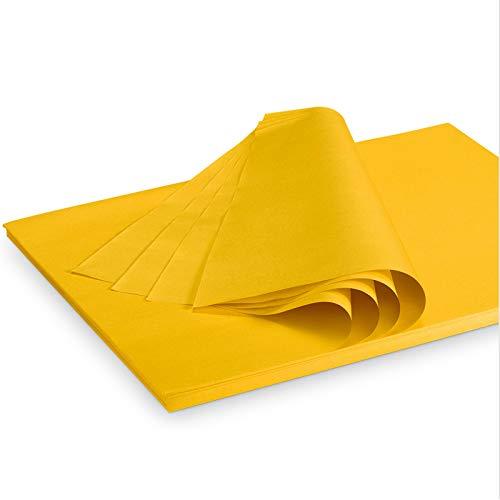 Seidenpapier Packseide farbig Gelb 35 g/qm 375 x 500 mm VE 2 Kg