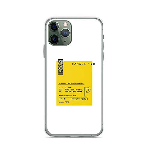 Phone Case Banana Fish Compatible with iPhone 6 6s 7 8 X Xs Xr 11 12 Pro Max Mini Se 2020 Absorption Tested Anti