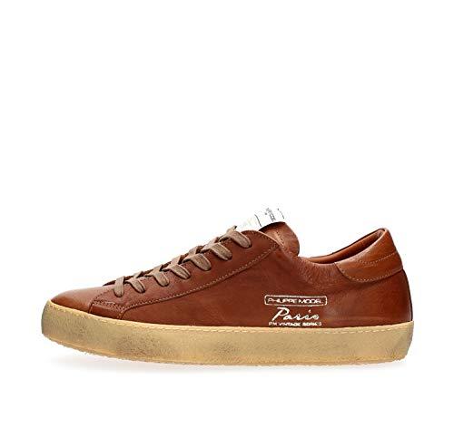 PHILIPPE MODEL PARIS CVLU VI02 Paris Vintage Sneakers Homme Cognac 41