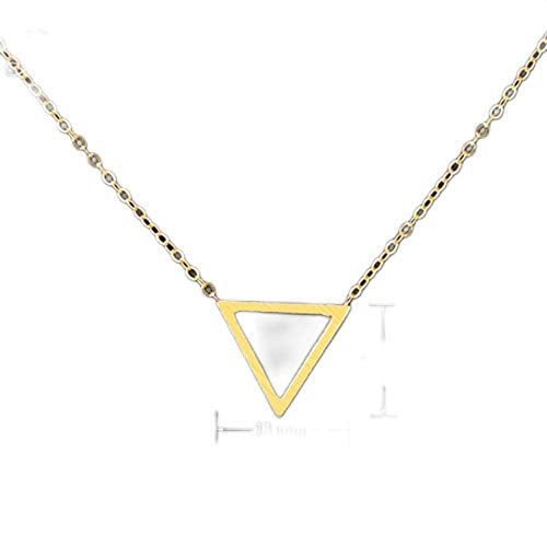 GORGEOUS TALE Fashion Geometric Pendant Gold Color Statement Necklace For Women Stainless Steel Chains Punk Triangle Jewelry Gif