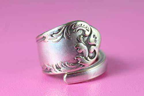 Rokoko Besteck Schmuck Ring, ca. 56 (17,8) Ring aus Besteck