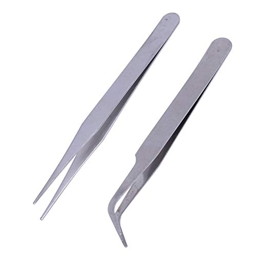 SovelyBoFan 2 X en acier inoxydable Nail Art brucelles outil Strass Gems cils Nail Art Gel Acrylique outil Picking