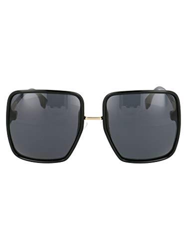 FENDI Moda De Lujo Mujer FF0402S807IR Negro Metal Gafas De Sol | Temporada Permanente