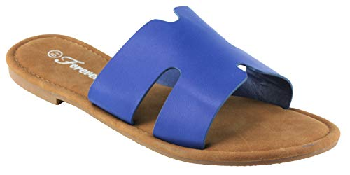 of forever women slippers Forever Women's Pasta-09 Faux Leather Slip-on Sandals