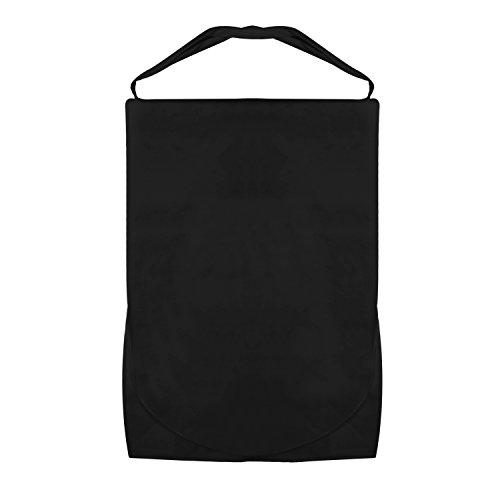 Hoesh International Simpson & Ruxton Brautkleiderträger, mit Stange und verstellbarem Riemen mit 25,4 cm Zwickel, Schwarz, 26″ x 72″ + 10″ Tapered Gusset