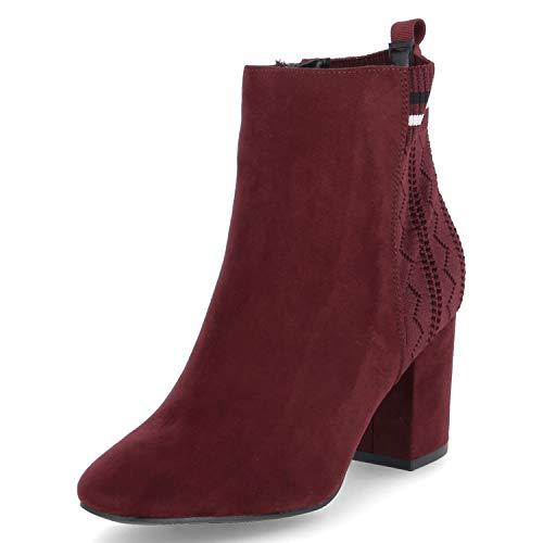 La Strada Damen Stiefeletten Stiefelette mit Blockabsatz 1705586/BORDO rot 559567
