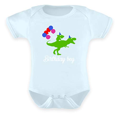 SPIRITSHIRTSHOP Birthday Boy - groene haai op groene dino - ballonnen - baby body