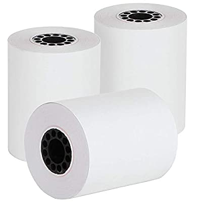 "2 1/4"" X 85' Thermal Credit Card Paper 50 Rolls Per Box for Use in Some Verifone, Omni, Hypercom and First Data, BPA Free"