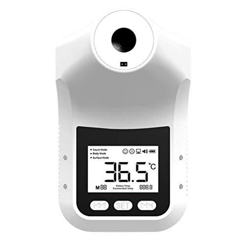 Termómetro de temperatura de temperatura de infrarrojos sin contacto, con cable de datos y alarma de fiebre, medición de temperatura profesional para oficina, supermercado, escuela, aeropuerto, estaci