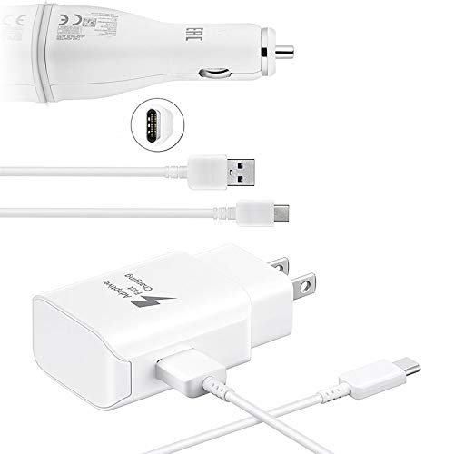 Volt Plus Tech Quick Adaptive Turbo 18W Wall & Car Dual-Port USB Kit Works for Apple iPad Air (2020) with (2) USB Type-C Cables!