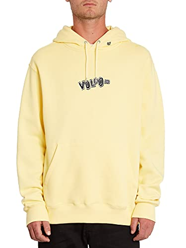 Volcom Stone Supply Dawn - Sudadera con capucha para hombre, color amarillo, amarillo, small